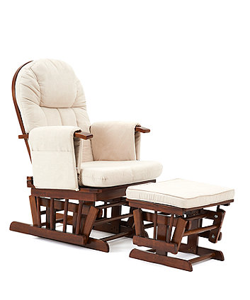 the latest 5297c 32014 Mothercare Natural Reclining Glider Chair with Beige Cushion