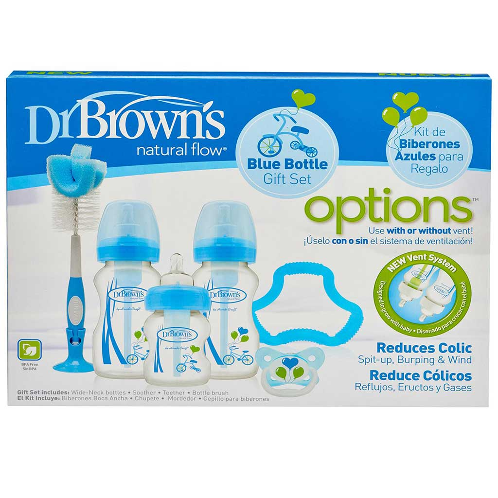 Products Monmartt Wide Neck Options Bottle Soother Gift Set Blue Pink Bottles Feeding Dr Browns Natural Flow