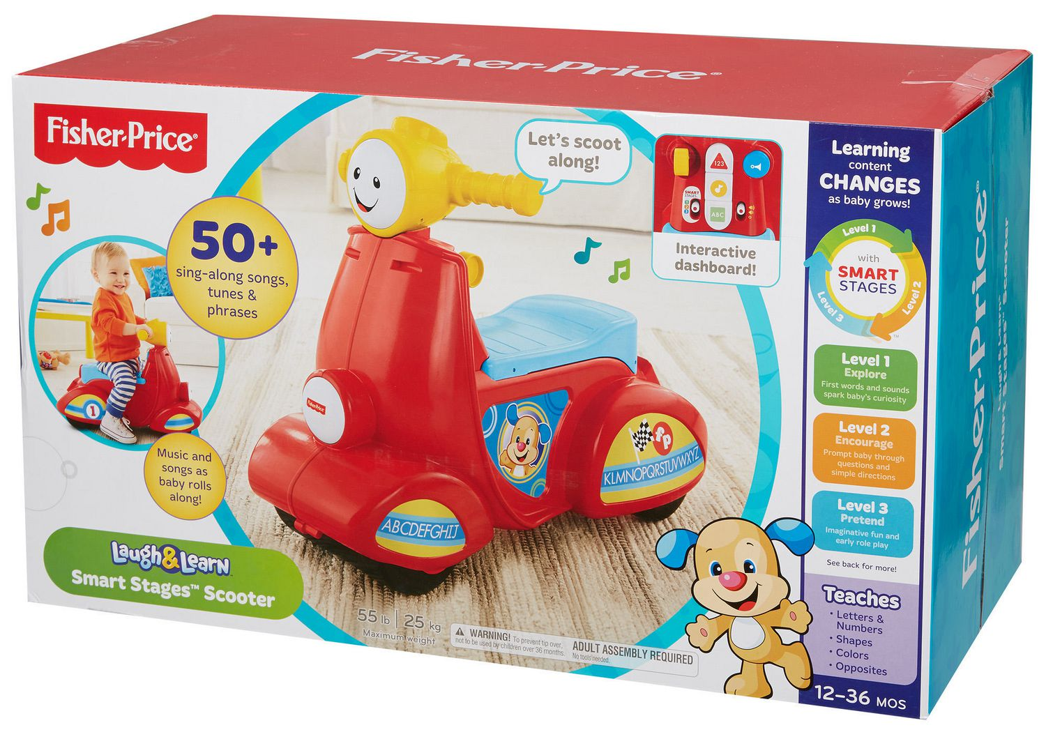 Fisher Price Laugh Learn Smart Stages Learning Scooter English Phone Edition Monmartt