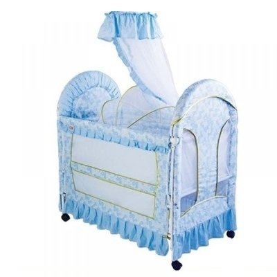 60ef0c029477 Play Pen Baby Cot with Bassinet   Mosquito