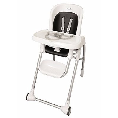 Pleasant Evenflo Modern High Chair White Creativecarmelina Interior Chair Design Creativecarmelinacom