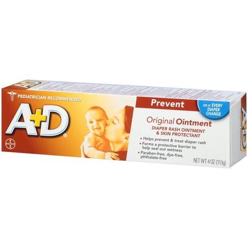 A+D Original Diaper Rash Ointment, Skin Protectant Tube 4oz   Monmartt