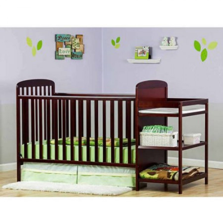Dream On Me 4 In 1 Convertible Crib With Changing Table, Free Mattress U0026  Pillow | Monmartt