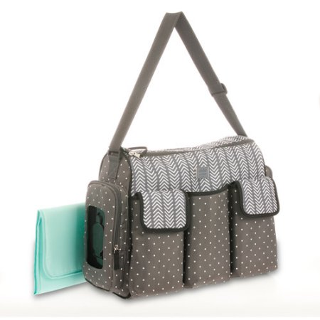 Diaper Bags Child Of Mine By Carter S Places And Es 3 Pocket Duffle Bag Gray