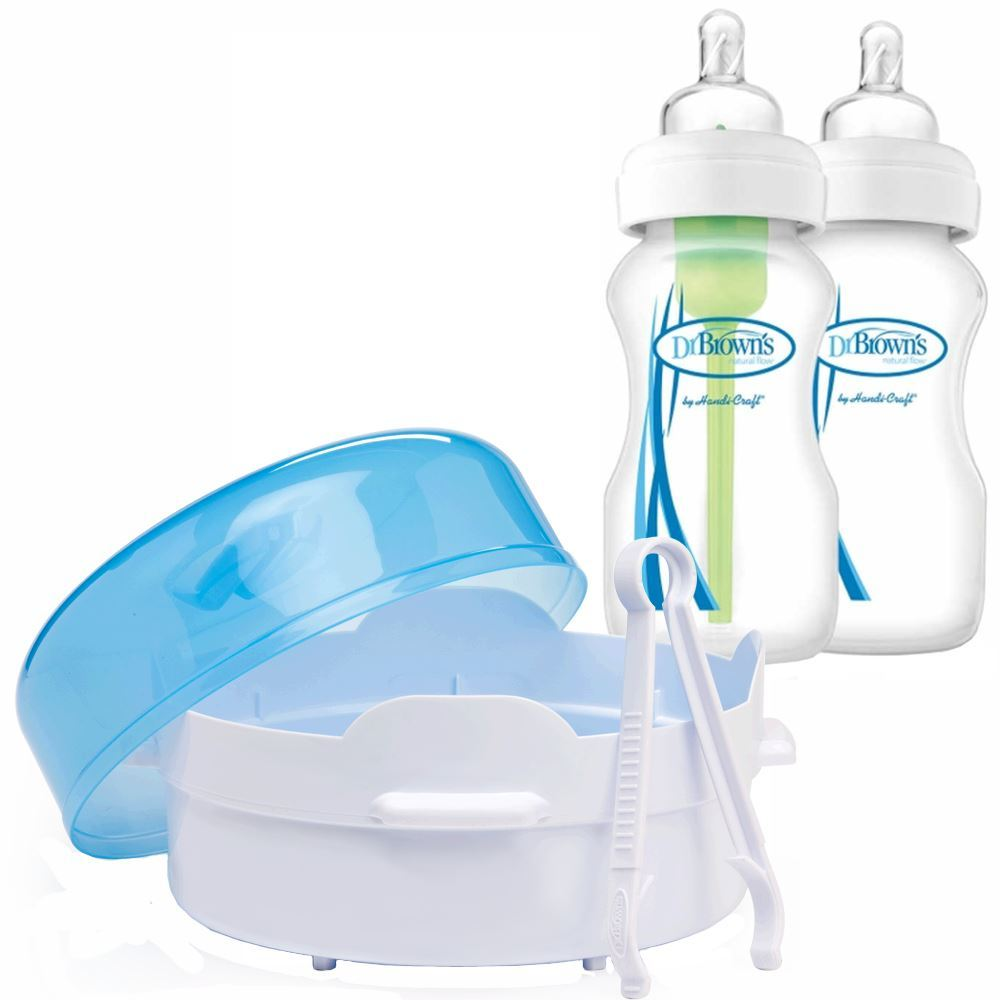 Products Monmartt Wide Neck Options Bottle Soother Gift Set Blue Pink Sterilizing Unit Dr Browns Microwave Steam Steriliser X2 Baby Bottles